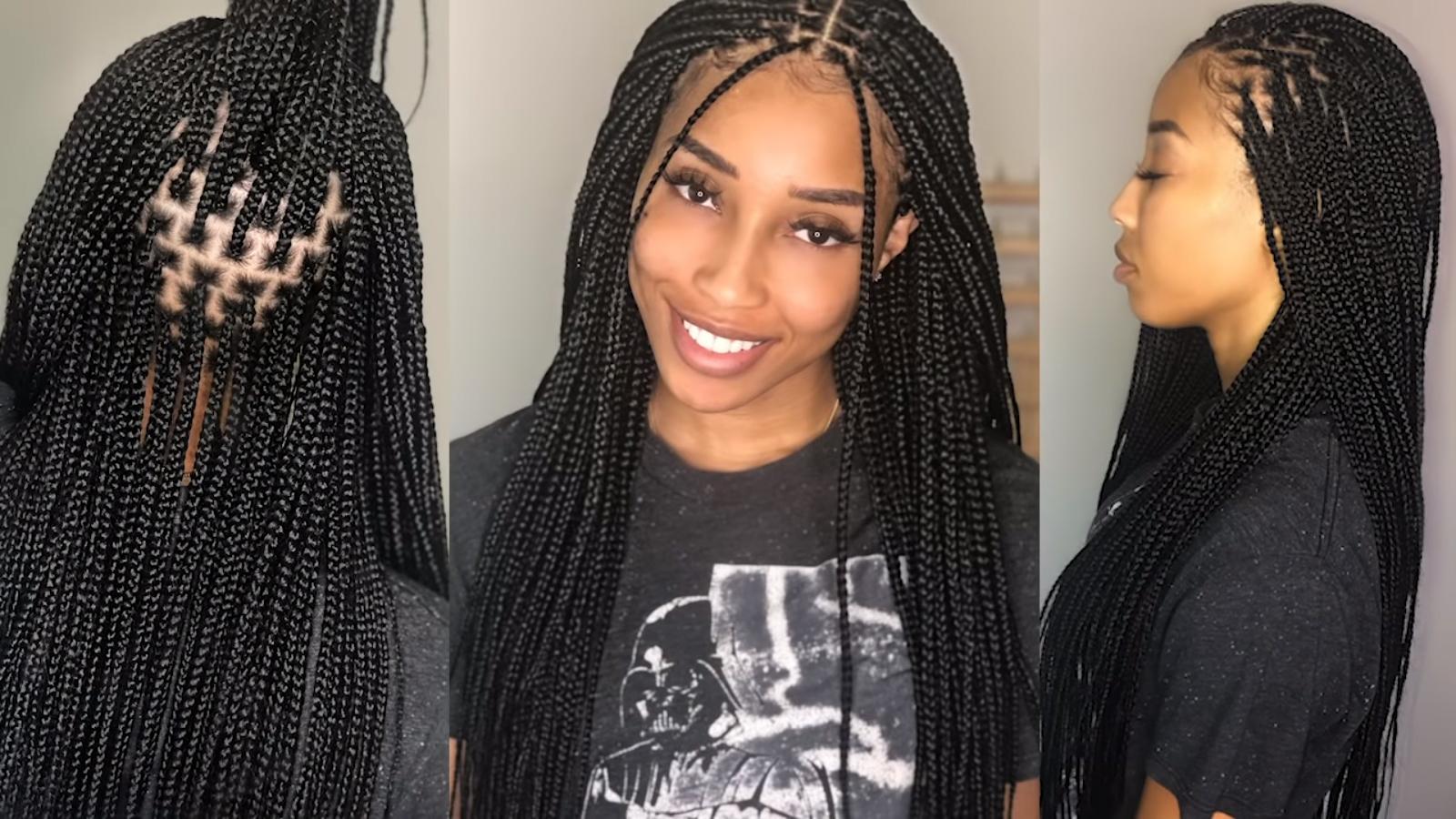 medium knotless box braids