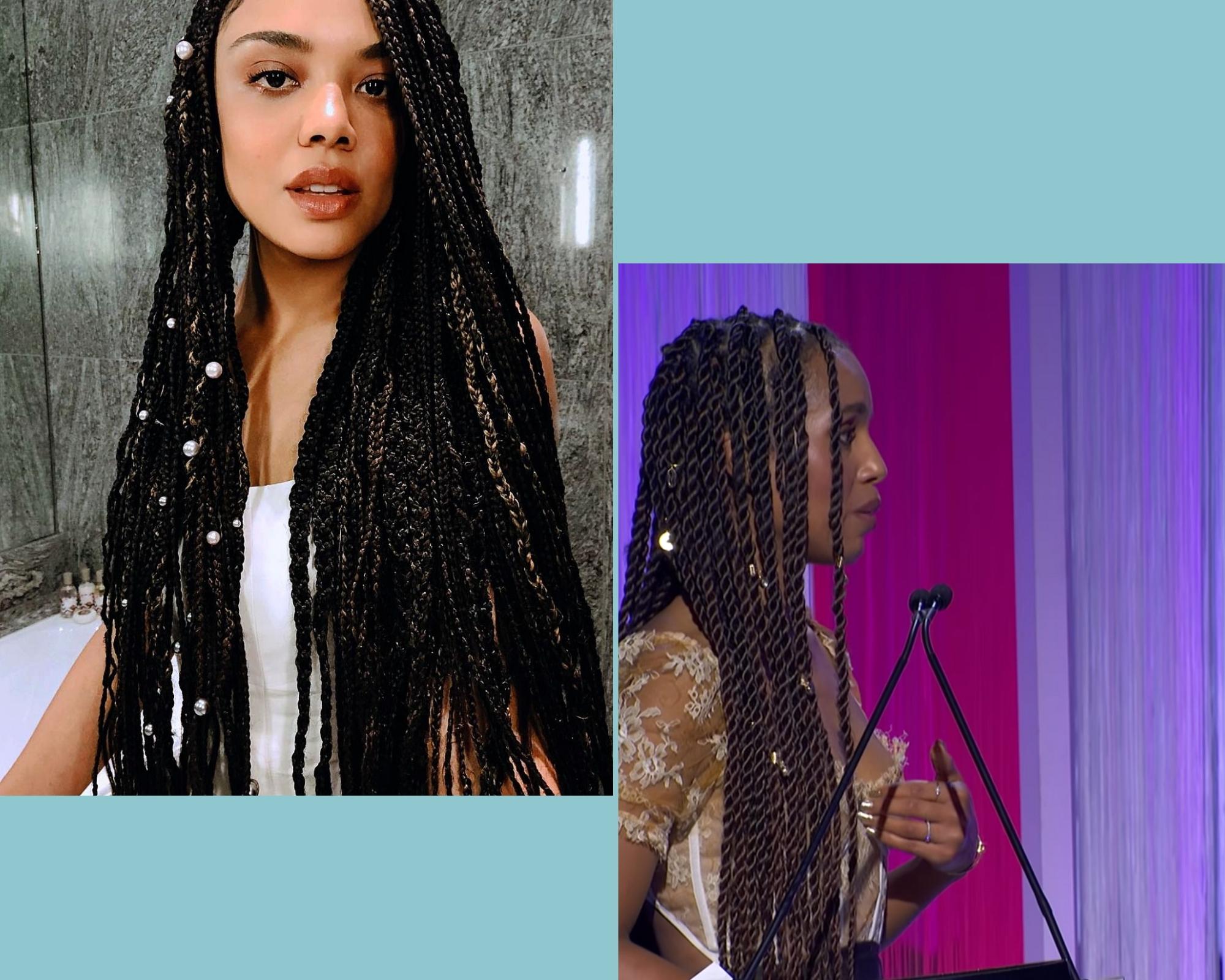 Kerry Washington & Tessa Thompson Box braids