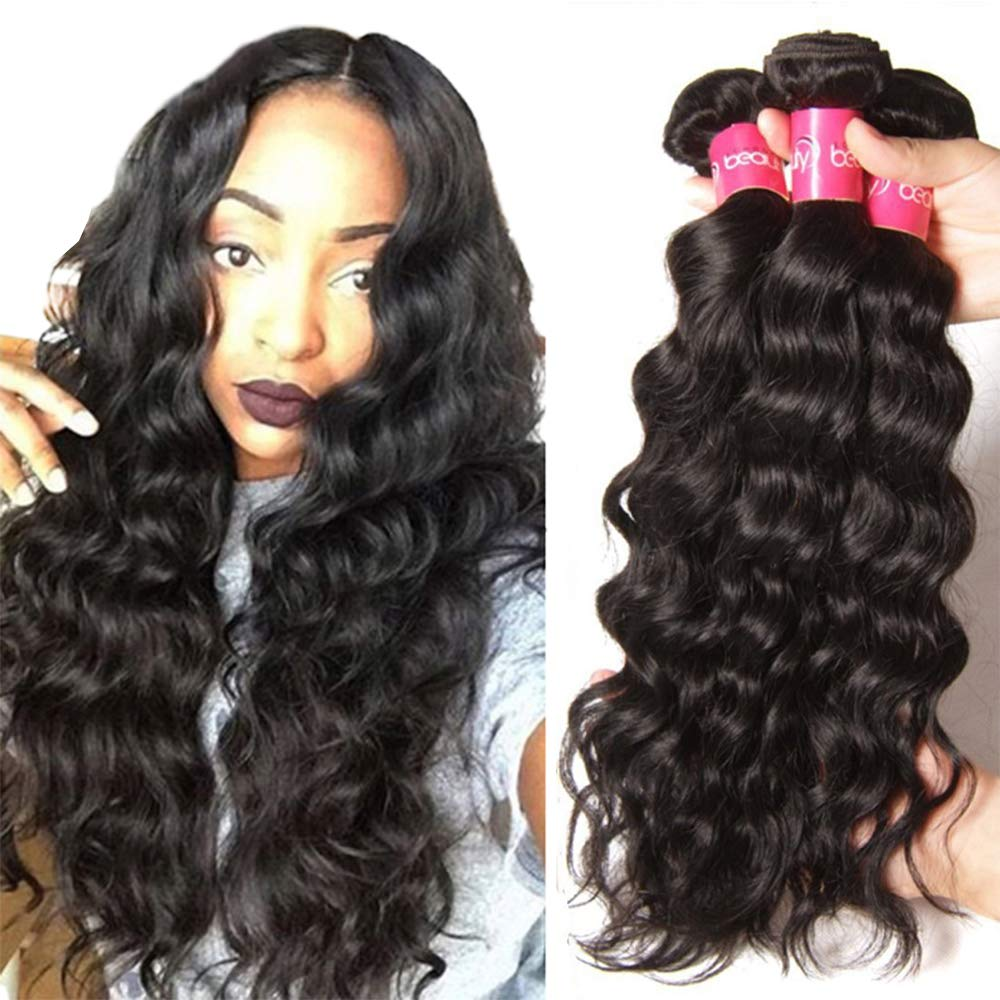 Dinoce Compatible with Longqi Brazilian Natural Wave 3 Bundles Virgin Hair