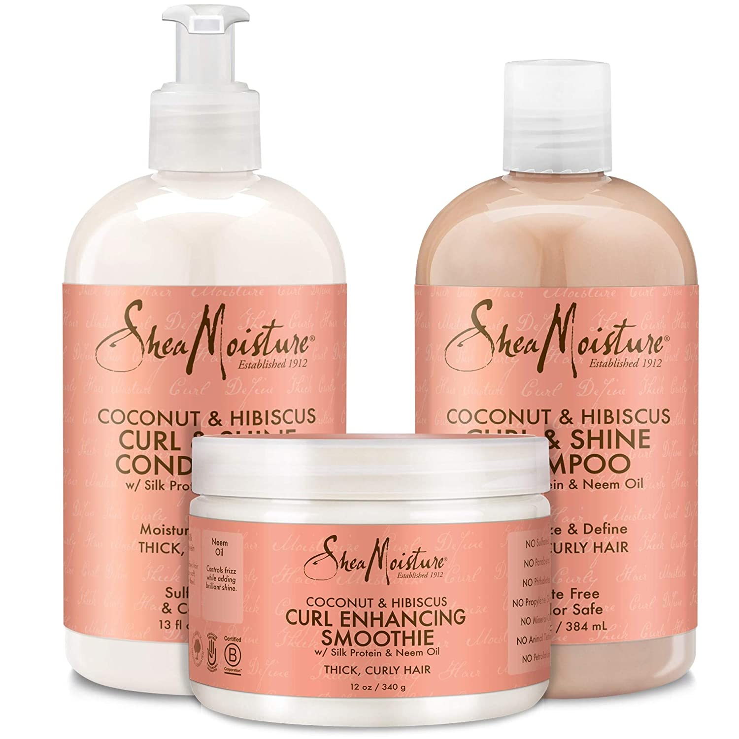 Shea Moisture Coconut and Hibiscus Combination Pack