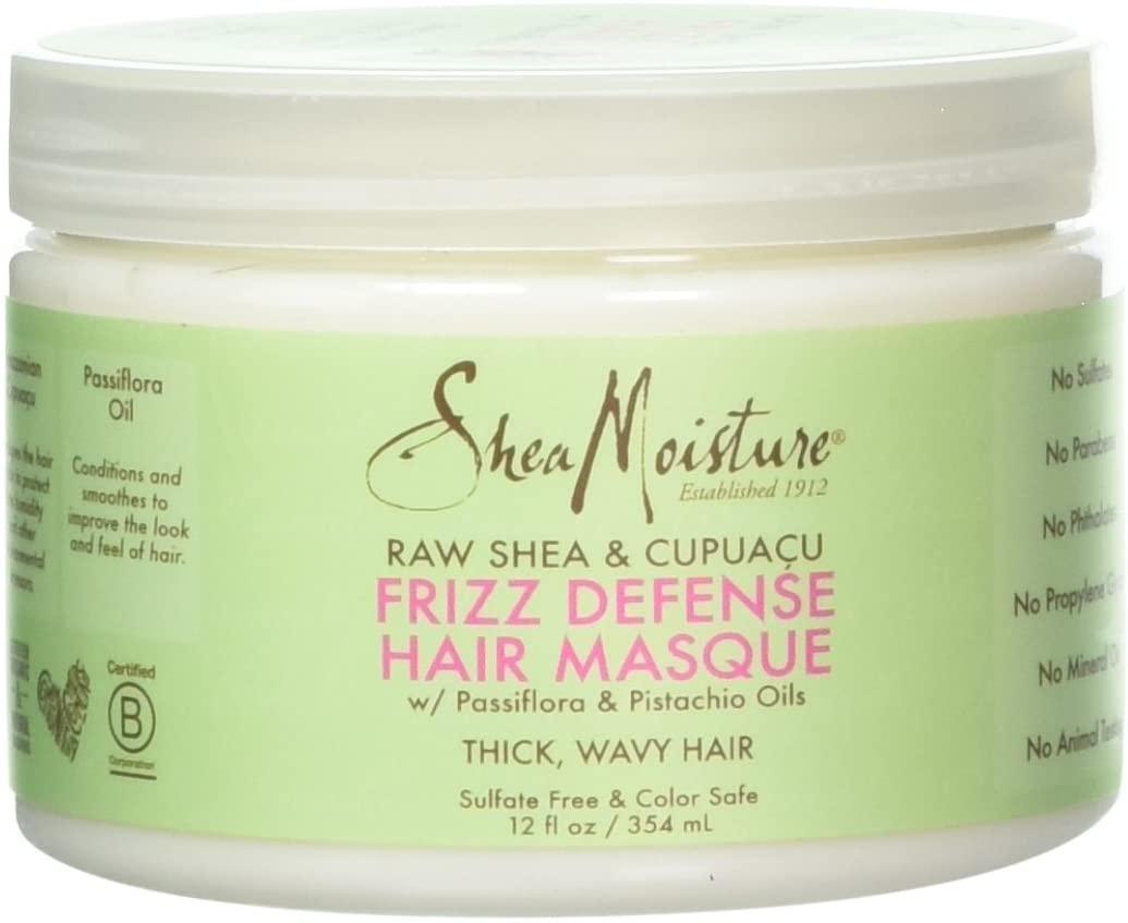 Shea Moisture Raw & Cupuacu Frizz Defense Hair Masque for Unisex