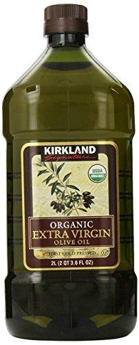 Kirkland Signature Organic Extra Virgin Olive Oil 2L (2QT 3.6 fl. oz), Set of 2