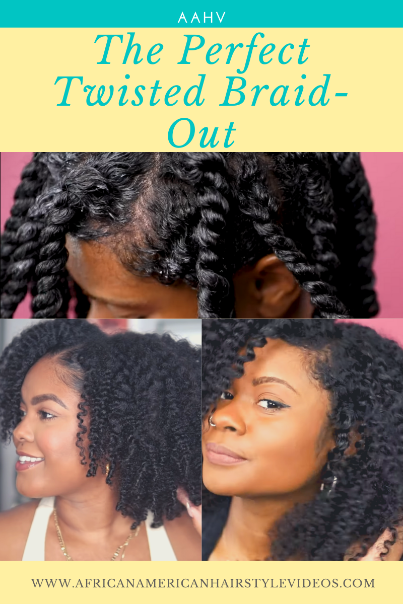 Twist out curly hair