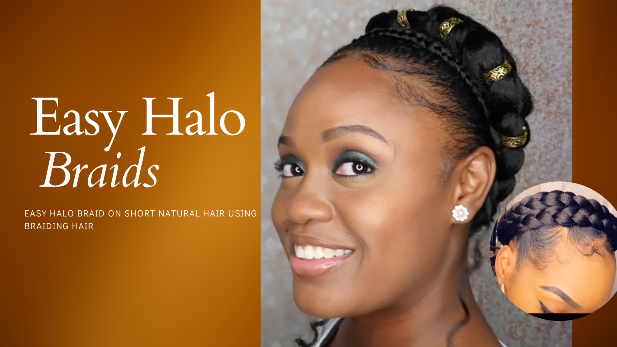 EASY HALO BRAID ON SHORT HAIR