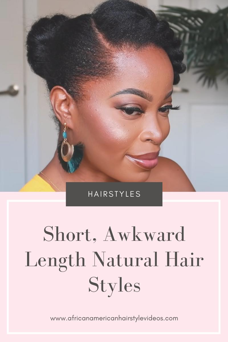 awkward length hairstyles