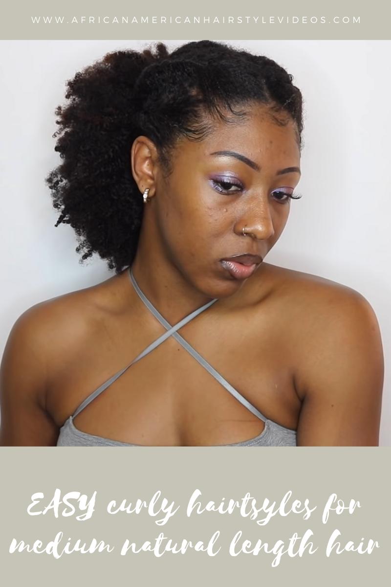 medium curly hair