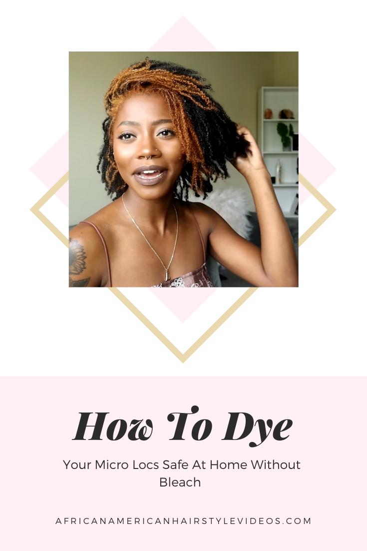 How to dye locs