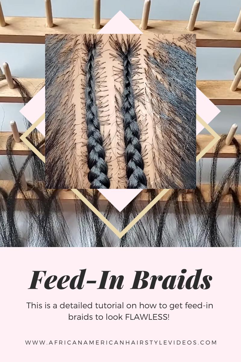 Feed-in braids tutorial