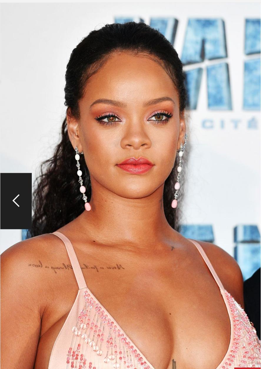 Rihanna's half up half down hairstyle